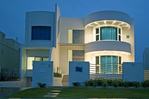 A ramble on art deco and resonance for Modern contemporary exterior house design